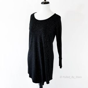 SOMA • Embraceable Sleepshirt in Glittered Black